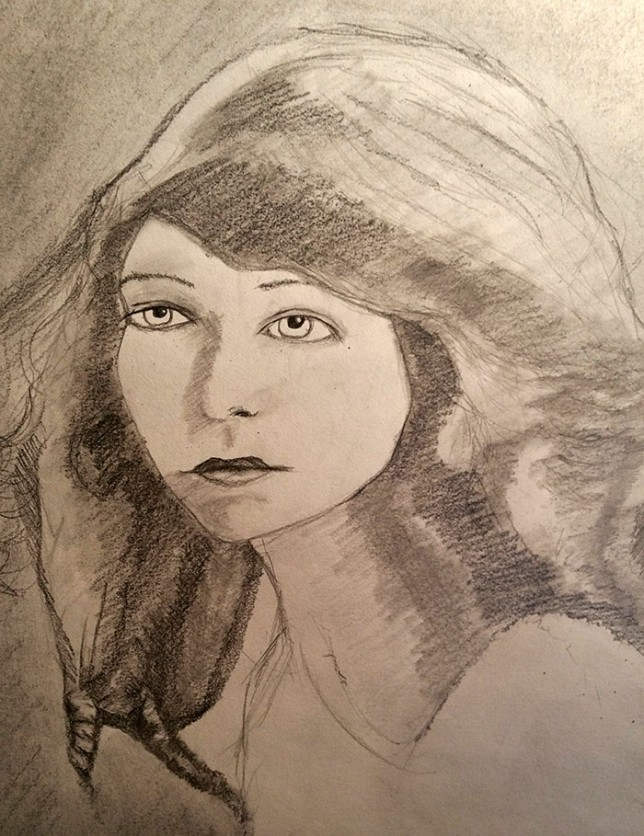 Lillian-graphite-drawing