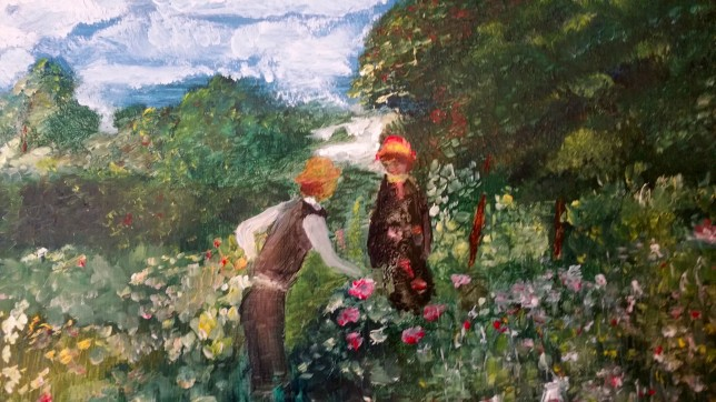 After-Renoir-Picking Flowers