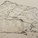 Jagged Cliff (ink drawing)