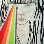I See the Rainbow Electric (mixed media drawing)