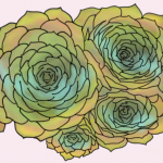 Six Succulents (digital art, version 1)