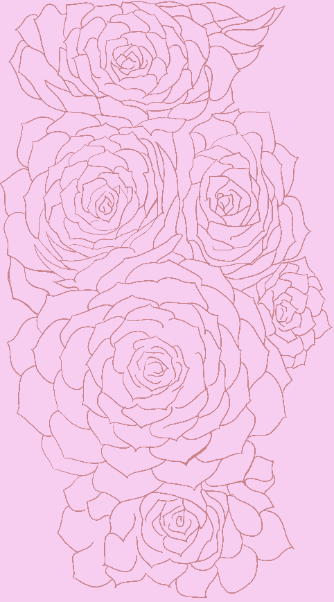 A light pink grouping of succulents. I like the gentleness of this.
