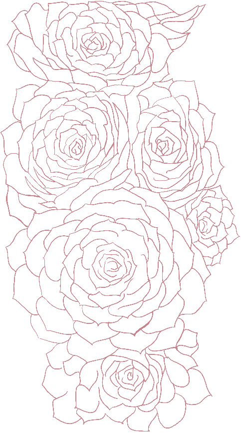 White and clean - this really emphasizes the line work.