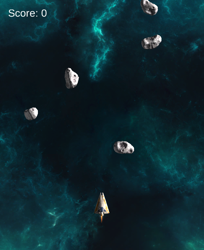 Screenshot of Space Shooter.