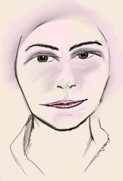Day Eight – Female skin-toned portrait (digital)