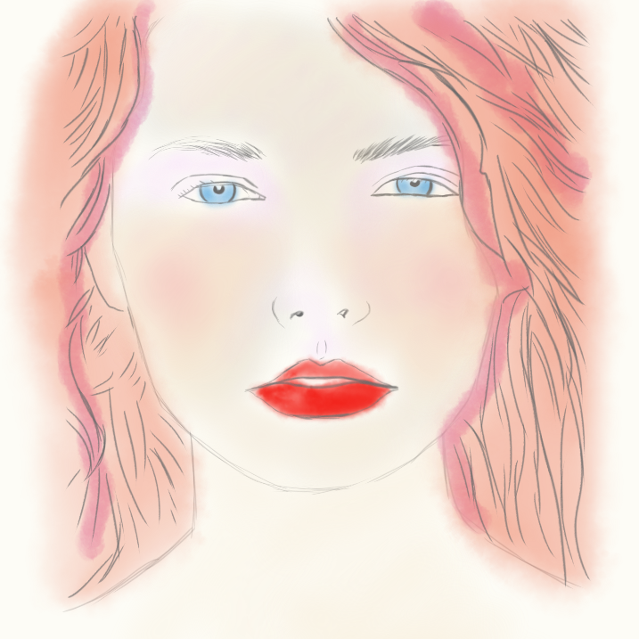Day 19 - digital, female, redhair1