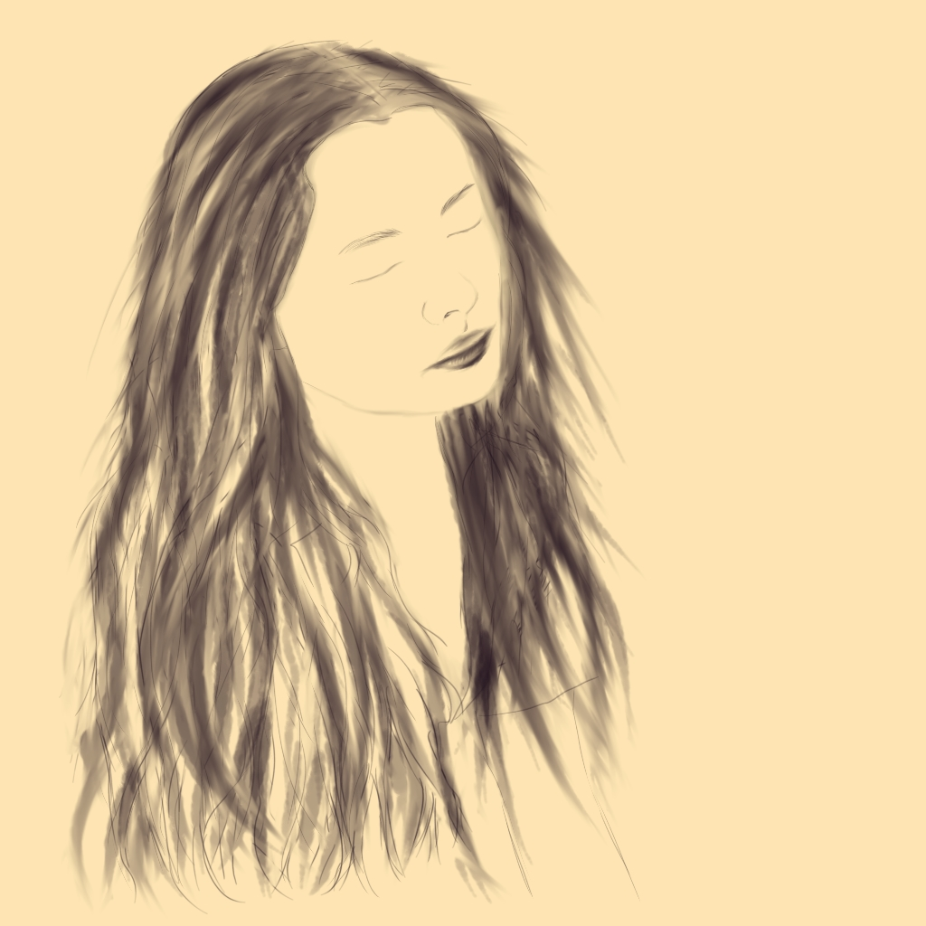 Day 20 - figure portrait, long hair - Ondine