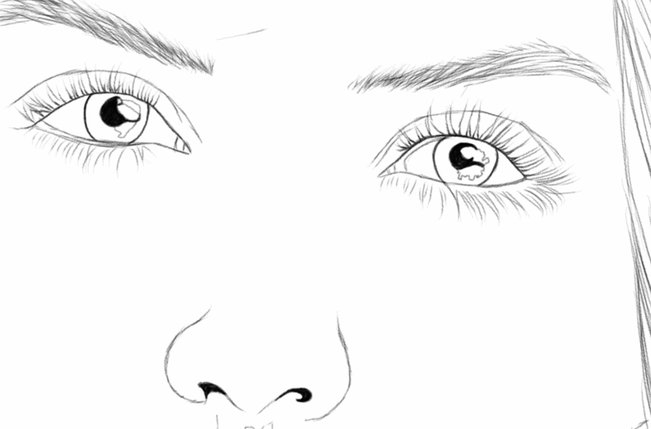 Daily Sketches - Day 25, Nasha - eyes