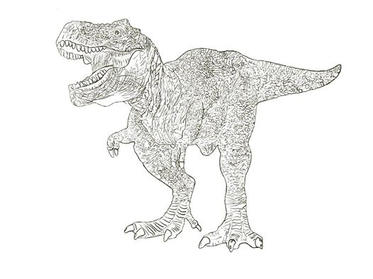 T-Rex - Line Drawing Completed