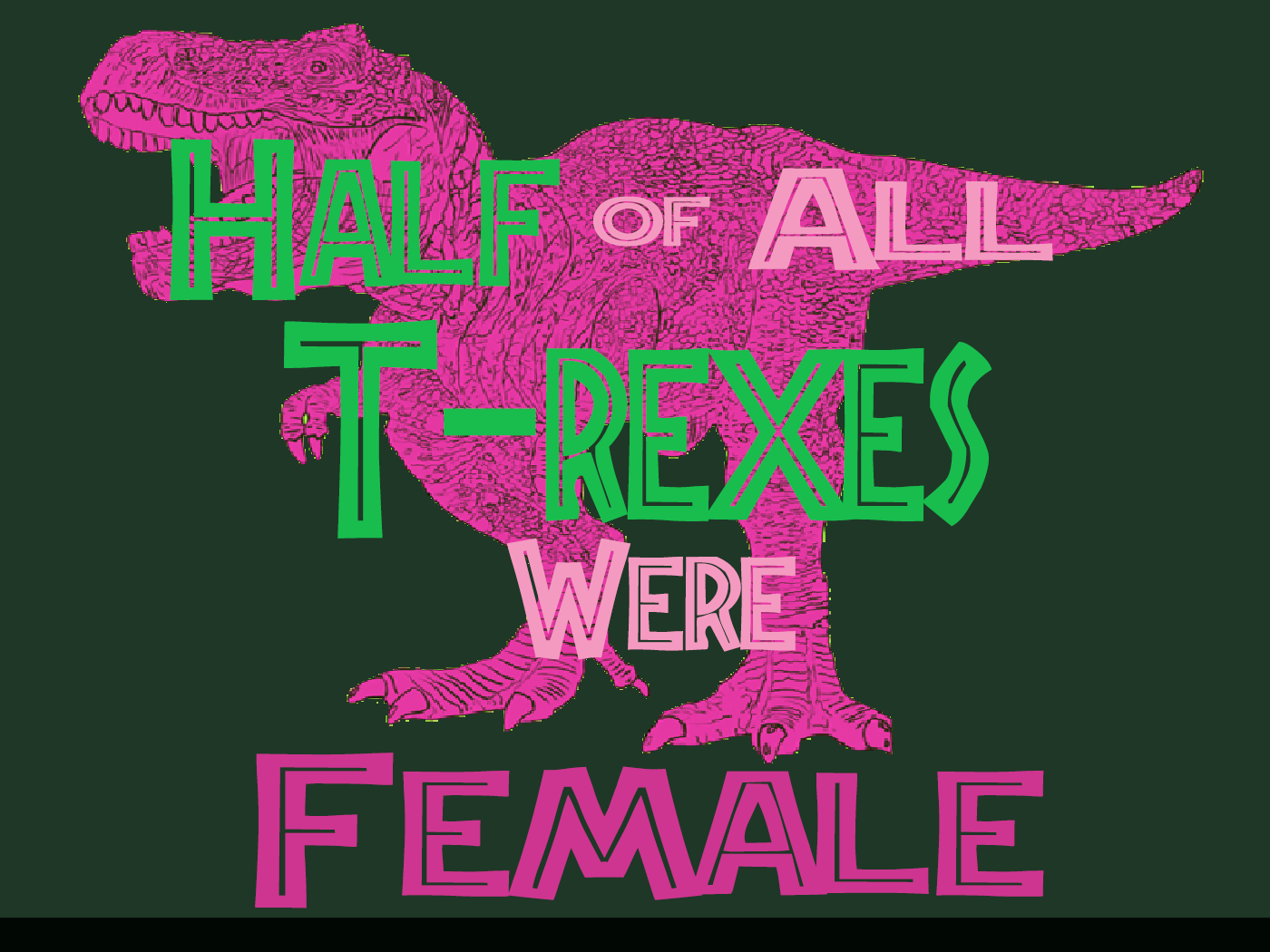 T-Rex Female - Dark Green