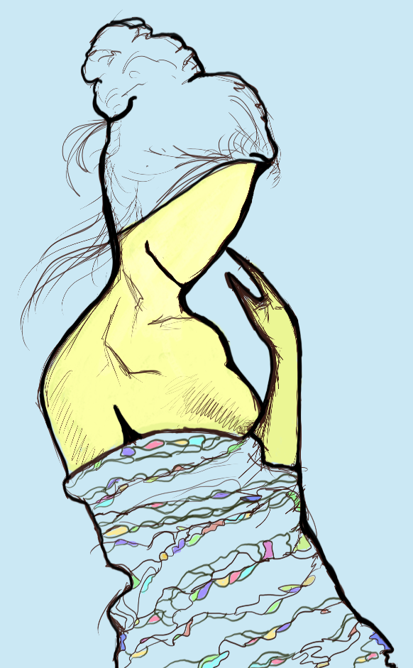 Girl in a Wrap (drawing)