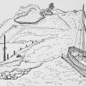 Sailboat in Marina (drawing)