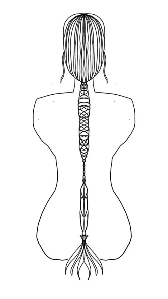 Symmetry Braid - Line
